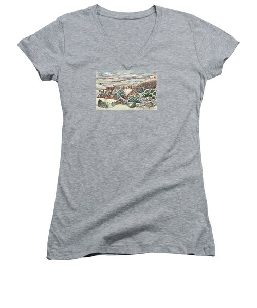 Wyoming Christmas Women's V-Neck T-Shirt