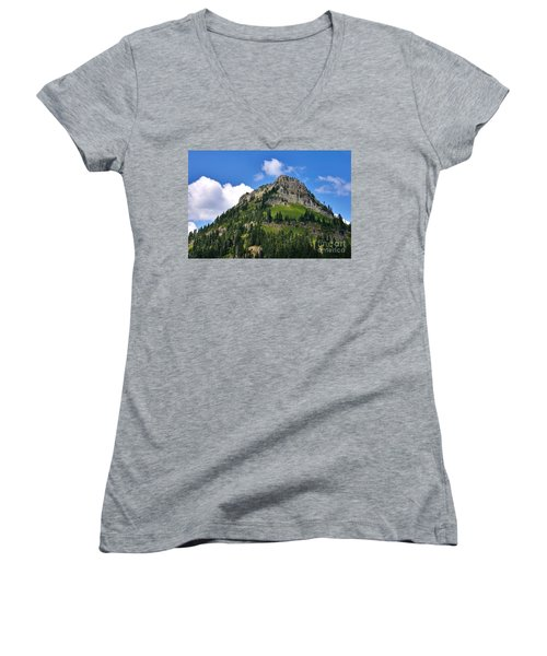 Yakima Peak Women's V-Neck T-Shirt (Junior Cut) by Sean Griffin