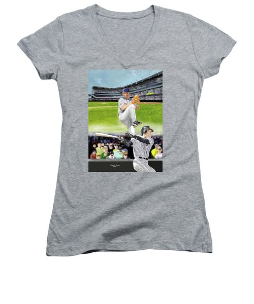 Yankees Vs Indians Women's V-Neck (Athletic Fit)