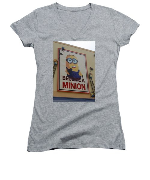 Year Of The Minions Women's V-Neck T-Shirt