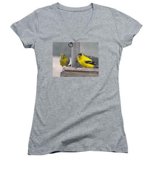Yellow Birds Women's V-Neck (Athletic Fit)