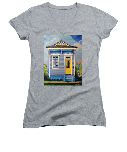 Yellow Door Shotgun  Women's V-Neck T-Shirt