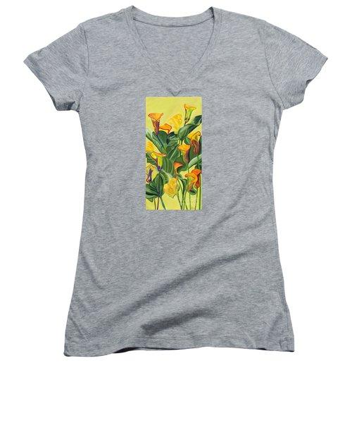 Yellow Lilies Women's V-Neck