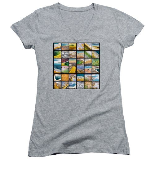 Yellowstone Colors Women's V-Neck (Athletic Fit)