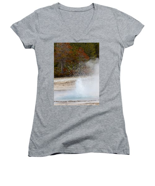 Yellowstone Geyser Women's V-Neck