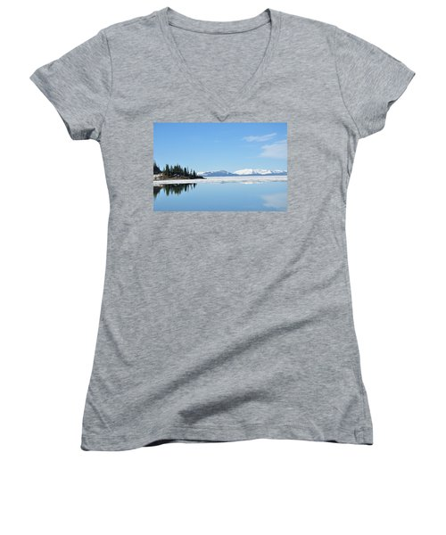 Yellowstone Lake In The Spring Women's V-Neck