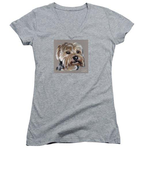 Yorkshire Terrier- Drawing Women's V-Neck