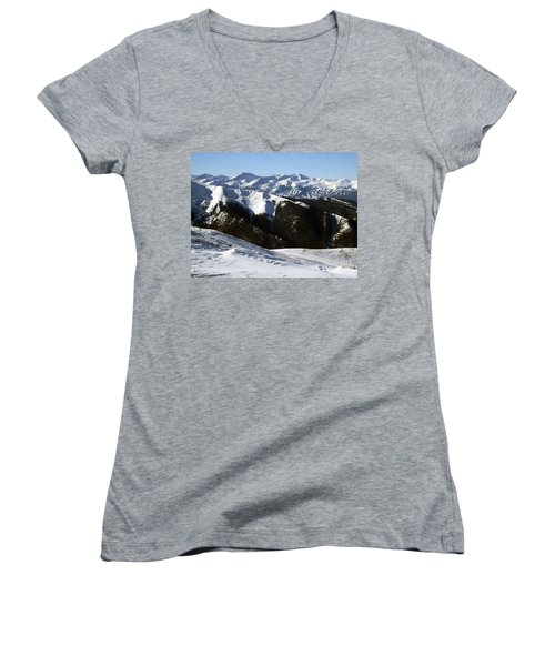 You Can See Forever Women's V-Neck T-Shirt (Junior Cut) by Fiona Kennard