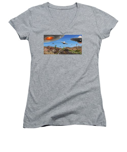 You Never Know . . . Panoramic Women's V-Neck