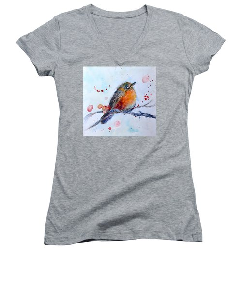 Young Robin Women's V-Neck