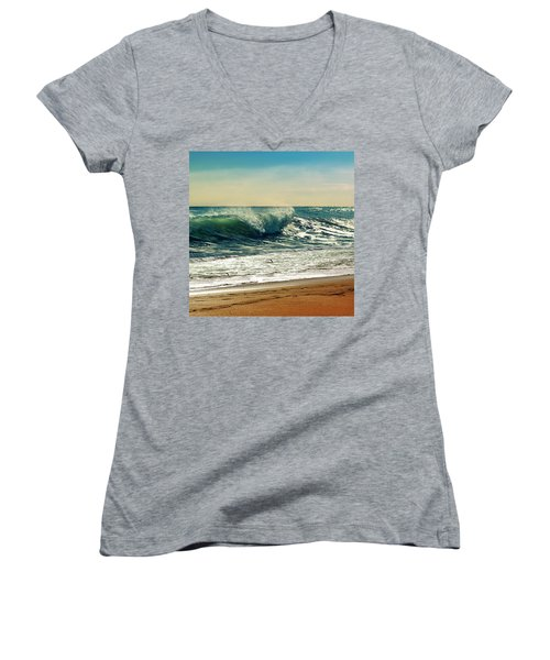 Your Moment Of Perfection Women's V-Neck T-Shirt (Junior Cut) by Laura Fasulo
