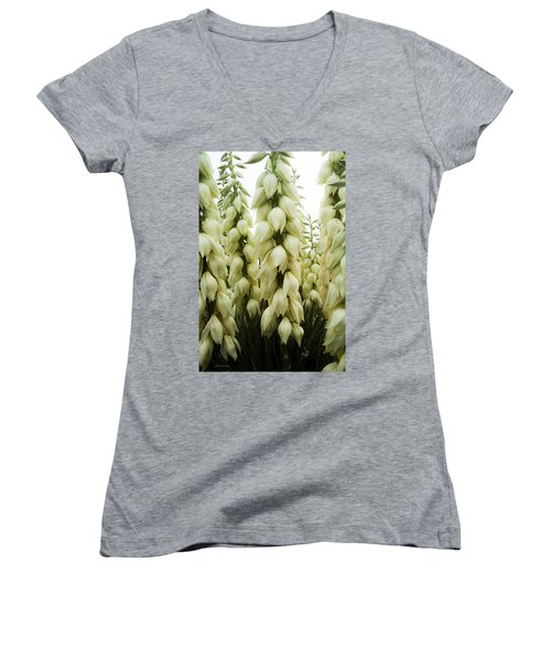 Women's V-Neck T-Shirt (Junior Cut) featuring the photograph Yucca Forest by Steven Milner