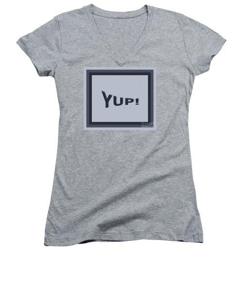 Yup Colorized Women's V-Neck T-Shirt
