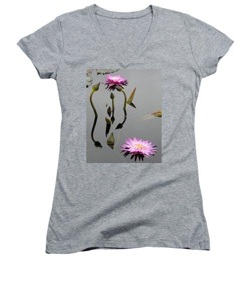 Zen Lilies Women's V-Neck