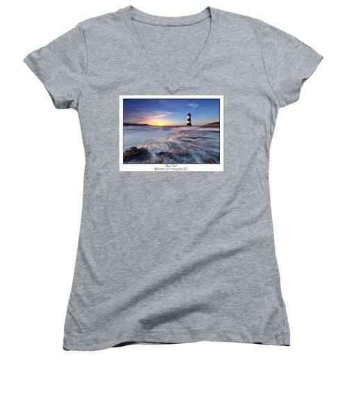 Penmon Point Lighthouse Women's V-Neck