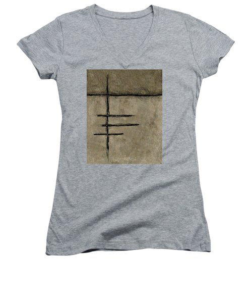0292 Abstract Thought Women's V-Neck T-Shirt