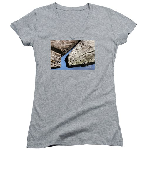 Abstract With Angles Women's V-Neck T-Shirt