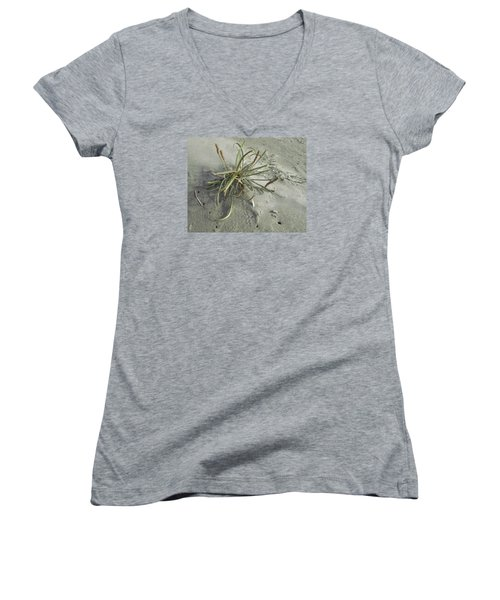 Women's V-Neck T-Shirt (Junior Cut) featuring the photograph Adaptation by I'ina Van Lawick