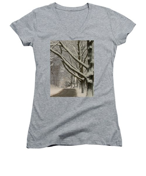 Alley Women's V-Neck T-Shirt