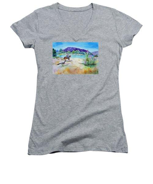 Texas - Along The Rio-grande Women's V-Neck T-Shirt