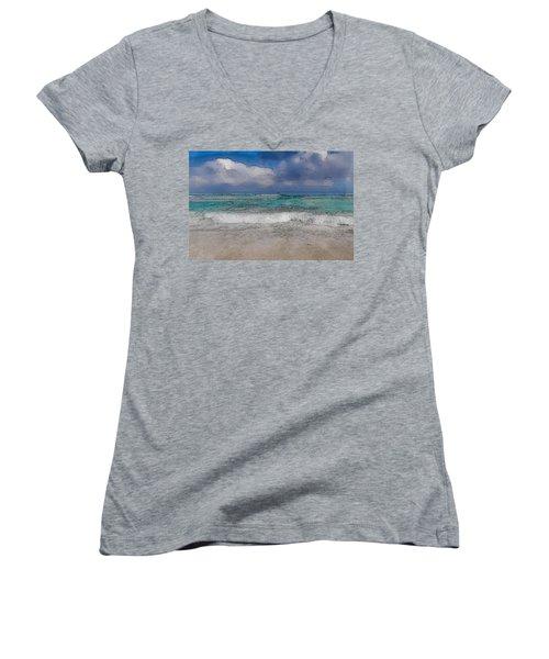 Beach Background Women's V-Neck