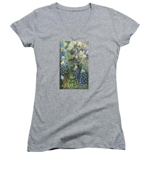 Bluebonnet Blessing Women's V-Neck T-Shirt
