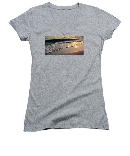 Gentle Tide Women's V-Neck T-Shirt (Junior Cut) by Angela Rath