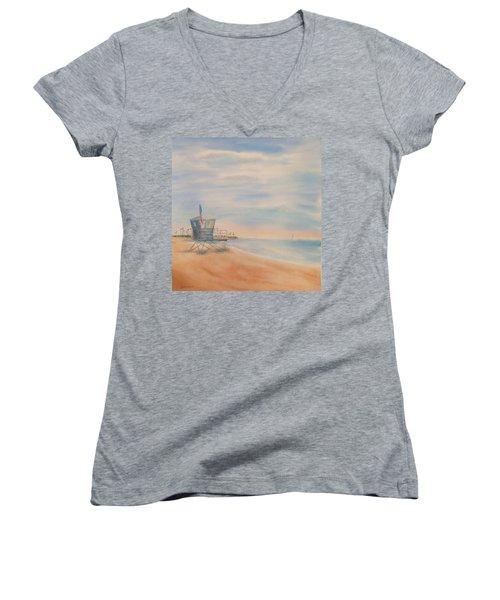Morning By The Beach Women's V-Neck