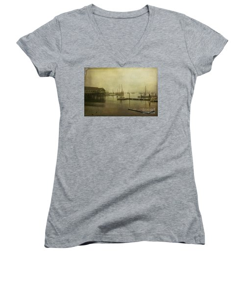 Rockland Harbor Women's V-Neck T-Shirt