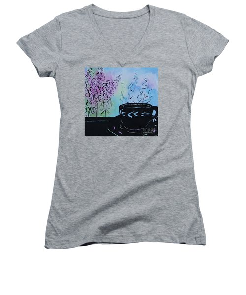 Tea And Snap Dragons Women's V-Neck T-Shirt