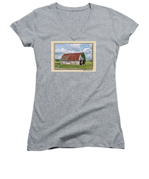 Women's V-Neck T-Shirt (Junior Cut) featuring the photograph Vote For Me I by Debbie Portwood