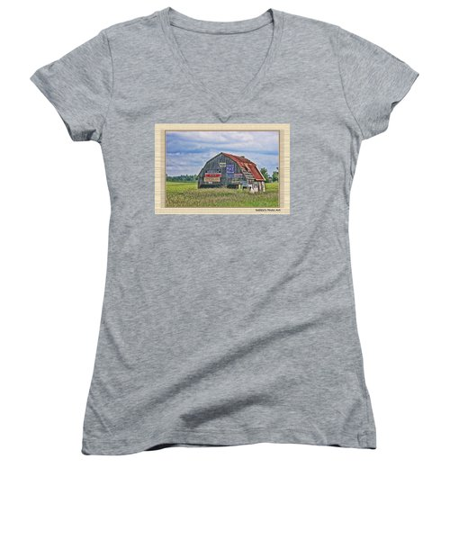 Women's V-Neck T-Shirt (Junior Cut) featuring the photograph Vote For Me II by Debbie Portwood
