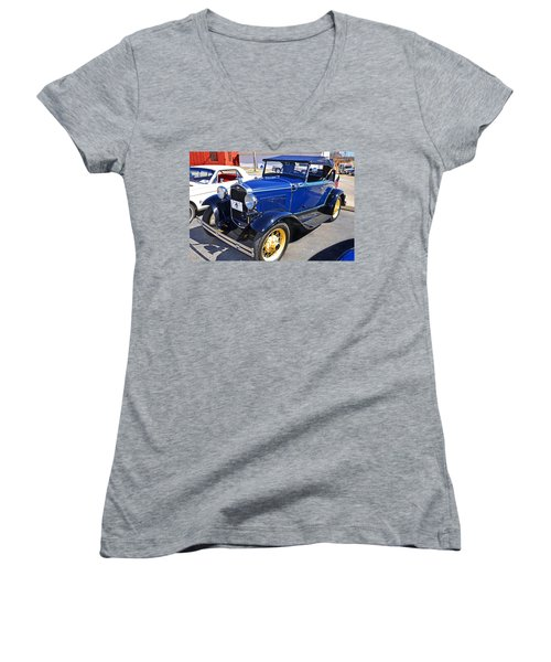 1931 Ford Women's V-Neck T-Shirt (Junior Cut) by Paul Mashburn