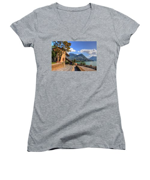 Road And Mountain Women's V-Neck (Athletic Fit)