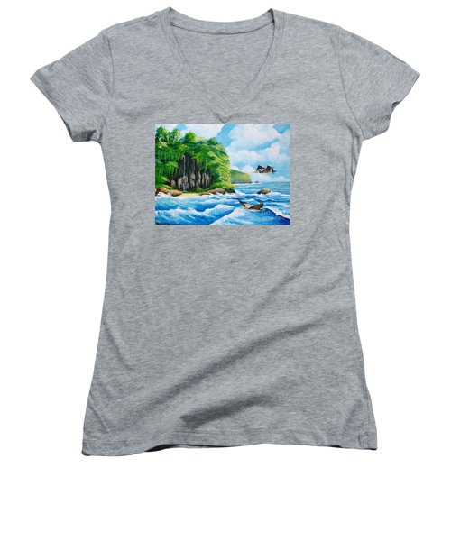 Treasure Island Women's V-Neck