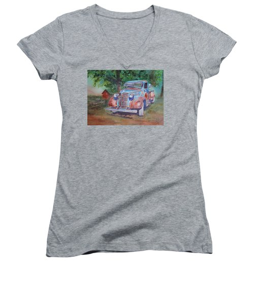 '38 Chevy Women's V-Neck (Athletic Fit)