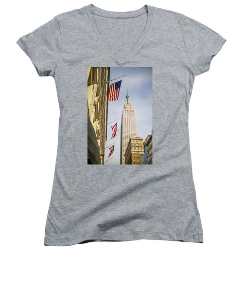 Empire State Building Women's V-Neck