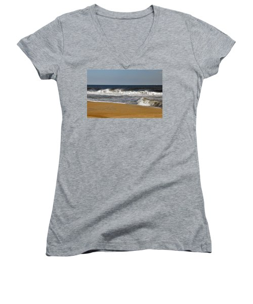 A Brisk Day Women's V-Neck T-Shirt