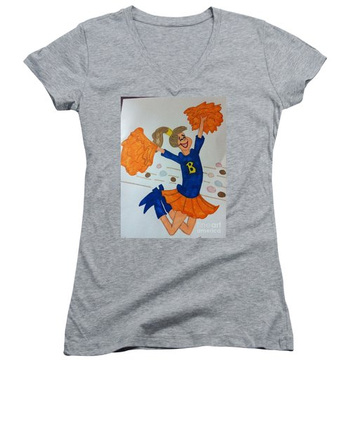 A Cheerful Cheerleader Women's V-Neck (Athletic Fit)