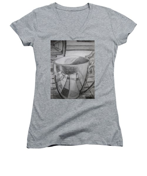 A Cup Of Reflections Women's V-Neck