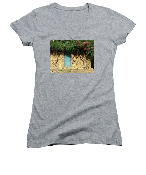 A Day In Colombia Women's V-Neck T-Shirt