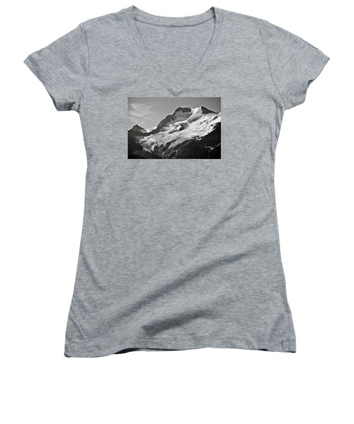 A Glacier In Jasper National Park Women's V-Neck T-Shirt (Junior Cut) by RicardMN Photography