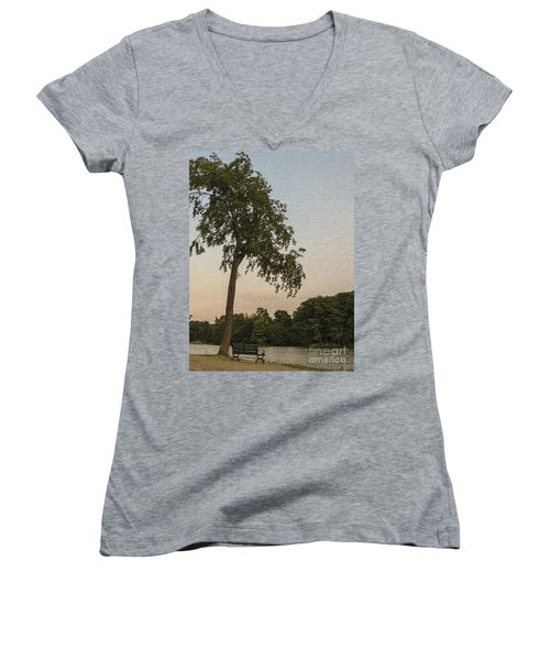 A Lonely Park Bench Women's V-Neck (Athletic Fit)