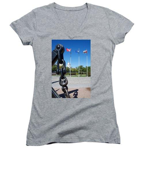 A Mari Usque Ad Mare Women's V-Neck T-Shirt