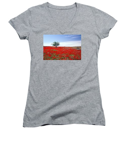 A Tree In A Red Sea Women's V-Neck