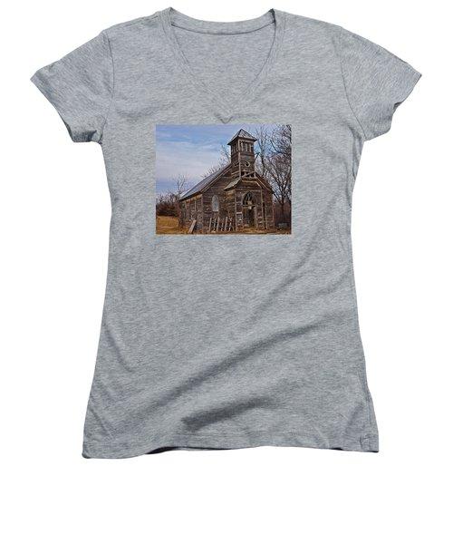 Abandoned Church Women's V-Neck