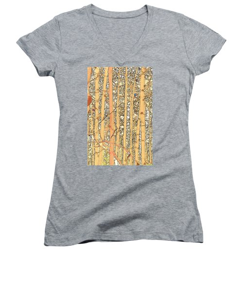 Abstract Aspens Women's V-Neck (Athletic Fit)