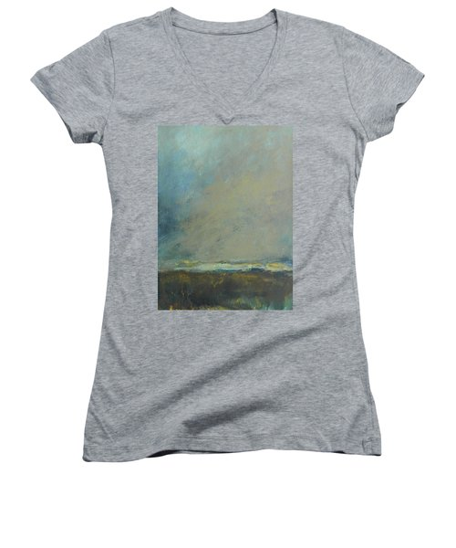 Abstract Landscape - Horizon Women's V-Neck (Athletic Fit)