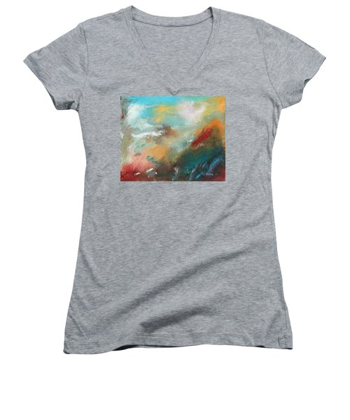Abstract No 1 Women's V-Neck (Athletic Fit)