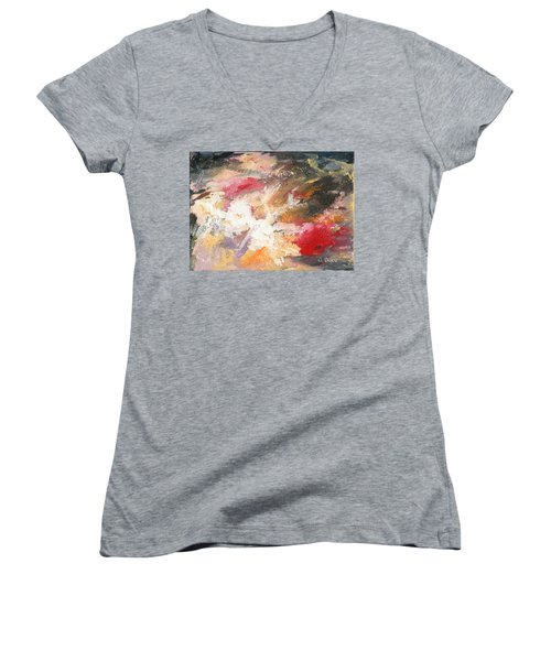 Abstract No 2 Women's V-Neck (Athletic Fit)